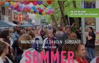 Am 14. September richten Jidokan e.V. und Theaterakademie Köln in der Mainzer Straße ein Straßenfest aus.Am 14. September richten Jidokan e.V. und Theaterakademie Köln in der Mainzer Straße ein Straßenfest aus.